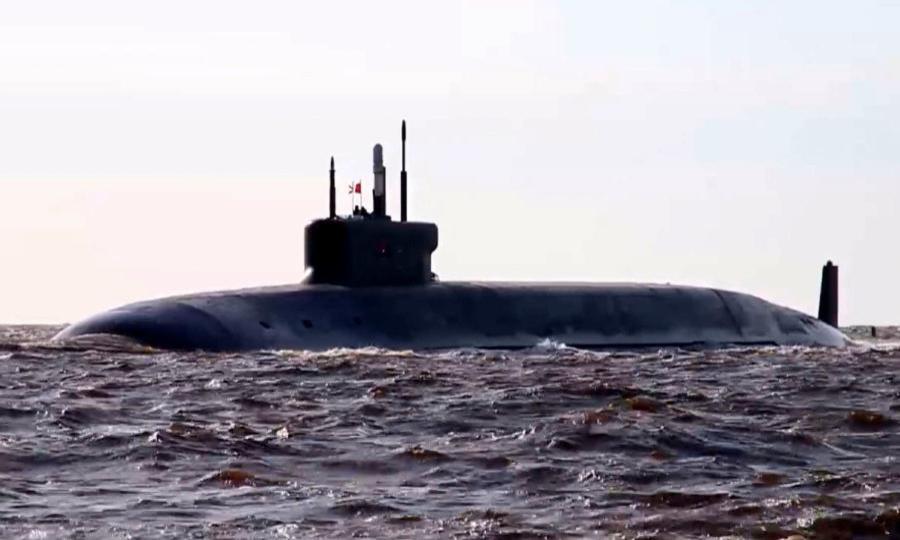 Ракетный подводный крейсер стратегического назначения «Князь Владимир» завершил испытания вБелом море иприбыл вСеверодвинск