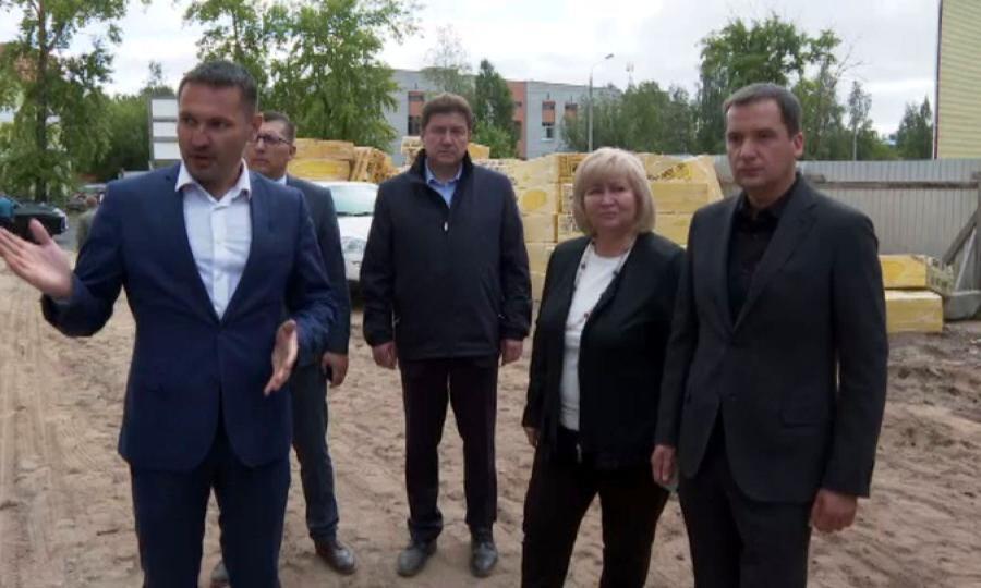 Накануне губернатор посетил Новодвинск